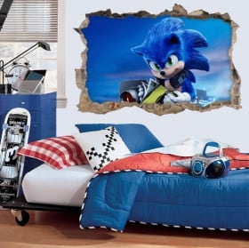 Vinyl and stickers 3d sonic