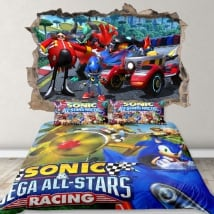 Vinyls and stickers 3d team sonic racing