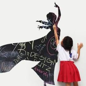 Vinyls black chalkboard elsa frozen