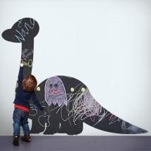 Vinyls black chalkboard dinosaur