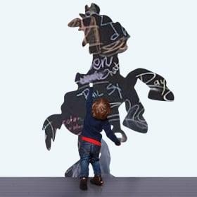 Vinyls black chalkboard toy story horse