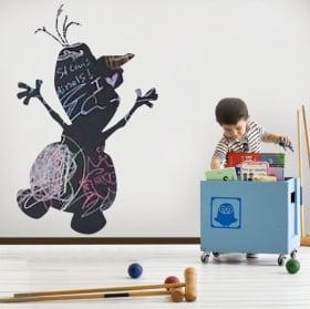 Vinyls black chalkboard disney olaf frozen