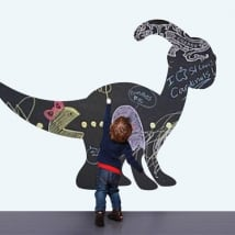 Children's vinyls black chalkboard dinosaur