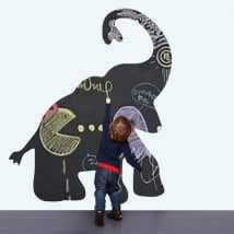 Children's vinyls black chalkboard elephant