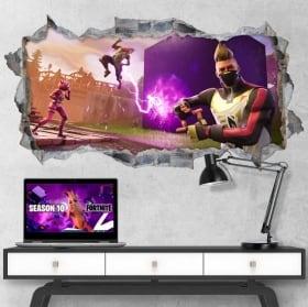 Decorative vinyl hole video game fortnite 3d