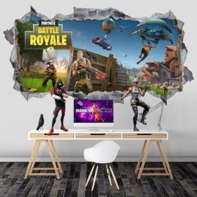Vinyls hole wall fortnite battle royale 3d