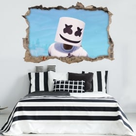 Vinyls and stickers video game fortnite marshmello 3d