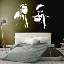 Decorative vinyls and stickers pulp fiction