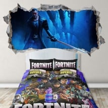 Vinyls wall videogame fortnite 3d