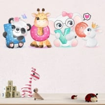 Vinyl and wall stickers animals love