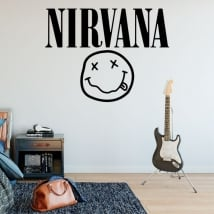 Vinyl and stickers rock and roll logo nirvana