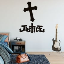 Vinyl and stickers music band justice