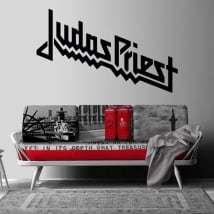 Vinyl and stickers music band judas priest