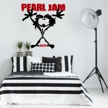 Vinyl and stickers pearl jam alive