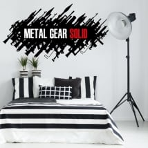 Decorative vinyls and stickers video game metal gear