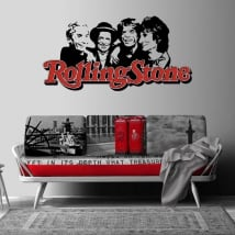 Vinyls and stickers rolling stone music band