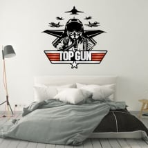 Decorative vinyls and stickers top gun