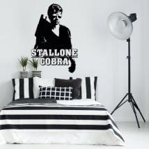 Decorative vinyl sylvester stallone cobra