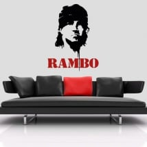 Vinyl and stickers sylvester stallone rambo