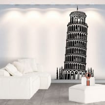 Decorative vinyls and stickers tower of pisa
