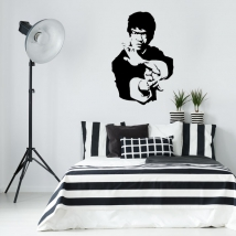 Vinyls and stickers of bruce lee