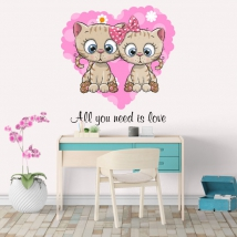 Vinyl and stickers cats all you need is love