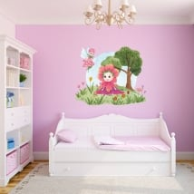 Children's vinyls and stickers watercolor flower fairies