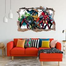 Decorative vinyl 3d marvel superhero yellowjacket
