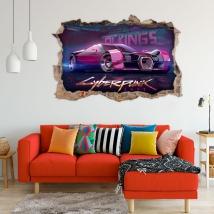 Cyberpunk 3d car decorative vinyls
