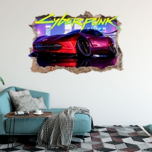 Cyberpunk 3d vinyls and stickers