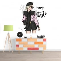 Decorative vinyls woman my style