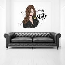 Decorative vinyls and stickers woman my style