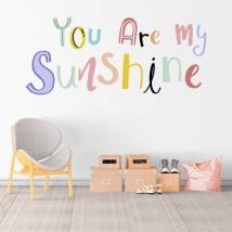 Vinyl phrase english you are my sunshine