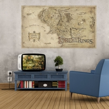 The lord of the rings map sticker