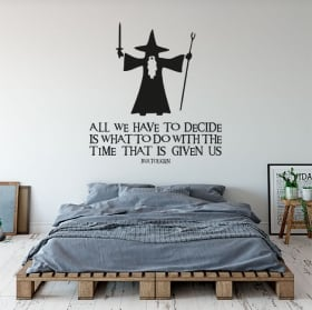 Decorative vinyl phrase the lord of the rings