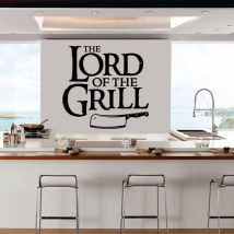 Vinyls and stickers phrase the lord of the grill