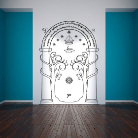 Vinyl door mines of moria the lord of the rings