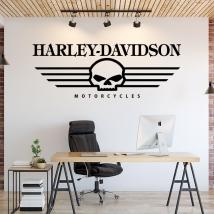 Decorative vinyl skull harley davidson