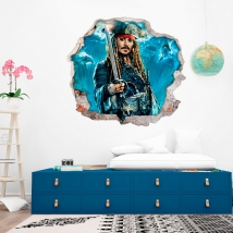 Vinyls and stickers 3d pirates of the caribbean