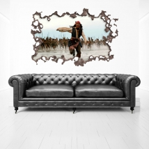Vinyl 3d hole wall pirates of the caribbean