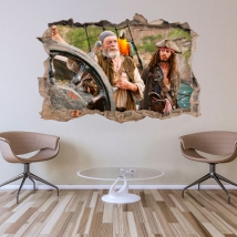 Vinyl and stickers hole 3d pirates of the caribbean