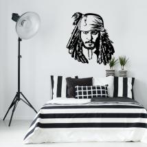 Decorative vinyl jack sparrow pirates of the caribbean