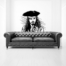 Vinyl and stickers jack sparrow pirates of the caribbean