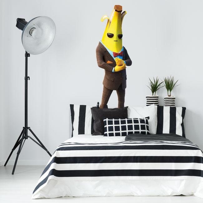 Adhesive vinyls banana video game fortnite