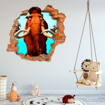 Vinyls and stickers 3d ice age the great cataclysm