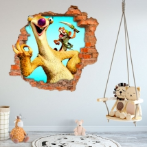 Decorative vinyls and stickers 3d ice age