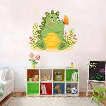Children's vinyls dinosaur and butterfly