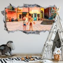 Decorative vinyl 3d luca disney pixar