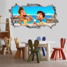 Stickers 3d luca disney pixar