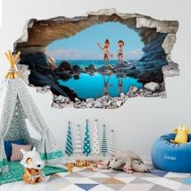 Decorative vinyl hole 3d luca disney pixar